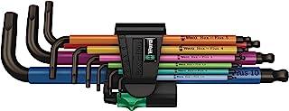 Wera 950/9 Hex-Plus Multicolor 1 Hex-Plus Black Laser Metric 1 L-Key Set 9 Pieces, 9 Pieces, Multicolor