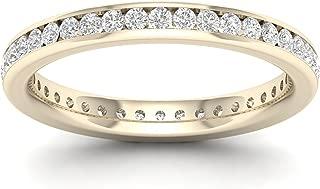 IGI Certified 14k Gold 1/2ct TDW Diamond Eternity Wedding Band (H-I, I2)