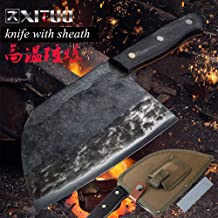 Handmade Forged Chef Knife High-Carbon Clad Steel Chinese Cleaver Kitchen Knives Chopper Meat Slicing Nakiri Gyuto Tool CN...