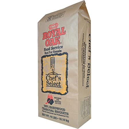 Royal Oak Chef's Select Premium Hardwood Charcoal Briquettes for Outdoor Patio Grills and Smokers, 40 Pound Bag