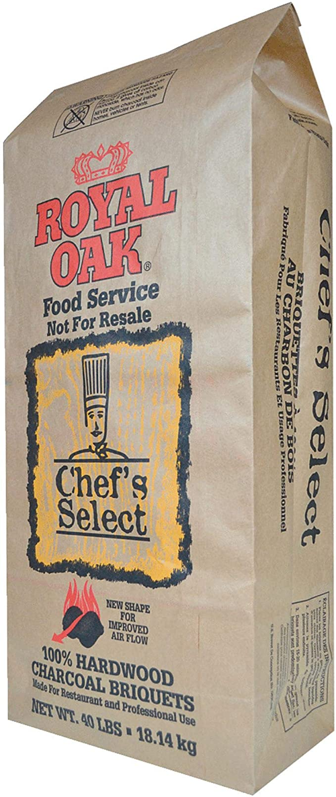 Royal Oak Chef's Select Charcoal Briquettes - Best for All Types of Smokers and Grills
