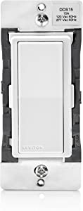Leviton DDS15-BDZ 15 Amp Dual Voltage 120/277VAC Decora Digital Switch and Timer with Bluetooth Technology, Neutral Required