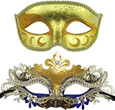blue and gold venetian mask