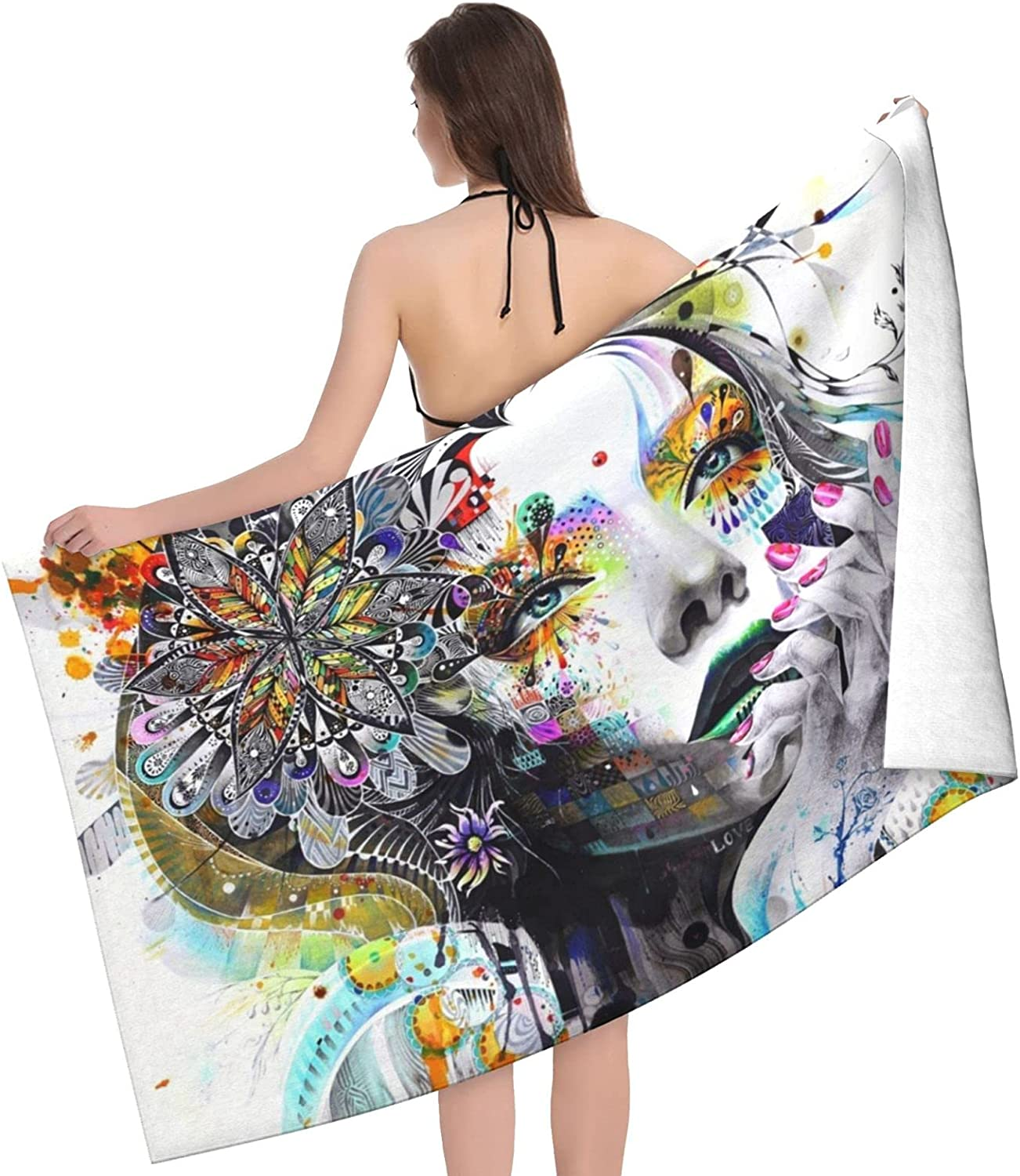Our shop OFFers Cheap the best service Woman Face Print Adult Beach Towels Double Sided Towel - M
