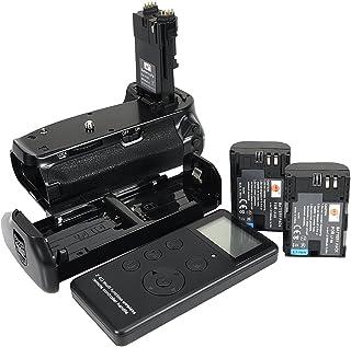 DSTE Pro Batería Apretón Built in 2.4G Wireless Remote Control Compatible con Canon EOS 6D Mark II as BG-E21 + 2X LP-E6 Battery