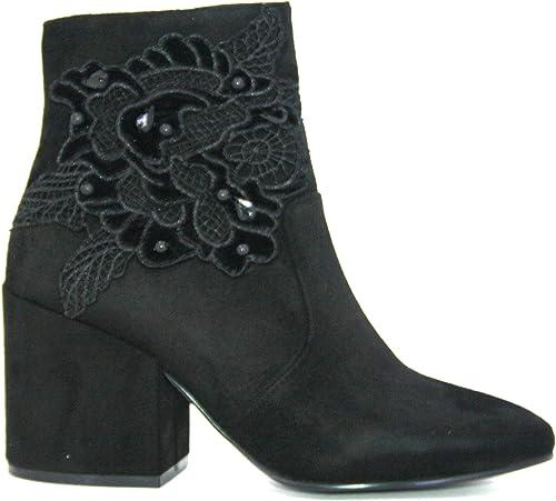 chaussures femmes tronchetti Cafenoir Cafenoir in camoscio noir JHB945-010  les dernières marques en ligne