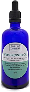ACEITE PARA EL CRECIMIENTO DEL CABELLO - RICINO, ARGAN, MORINGA Y COCO- con ROMERO Y EUCALIPTO - 100 ml - de Fine Line Apothecary. Aceites naturales para promover el crecimiento del cabello.