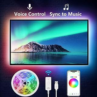 TV LED Backlight, Nitebird 9.2Ft Smart LED Strip Lights Works with Alexa Google Home Siri, 24-60in TV WiFi APP Control Multi-Color RGB Light Strip for PC Laptop Desk, Music Sync, Adapter USB Powered