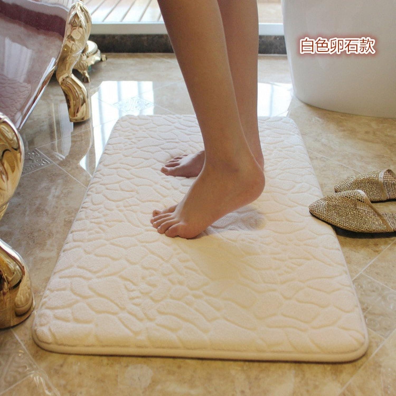 Bathroom Water-Absorption mat Toilet Indoor mat Non-Slip Suede mat in The Kitchen-G 60x90cm(24x35inch)