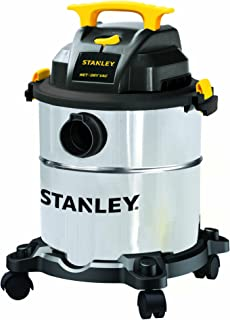 STANLEY Wet Dry Vacuum SL18116, 6 Gallon 4HP Stainless Steel Tank,Shop Vacuum for Garage, Carpet Cleaning, Shop Workshop Jobsite Clean with Vacuum Attachments