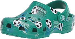 Crocs Unisex-Child 206417-3TJ Kid's Classic Soccer Clog|Slip on Water Shoe for Toddlers, Boys, and Girls