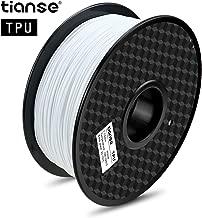 TIANSE TPU Flexible 3D Printer Filament, Diameter Tolerance +/- 0.03 mm, 1 KG, 1.75 mm, White