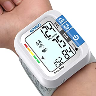 Wrist Blood Pressure Monitor, RENPHO Blood Pressure Machine for Home Use with Speaker, Accurate Automatic Digital BP Cuffs...