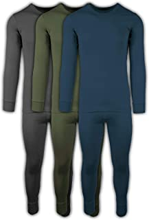 c48a5e9bae3 Andrew Scott Mens 2 Piece & 6 Piece Base Layer Long Sleeve + Long Pant  Thermal
