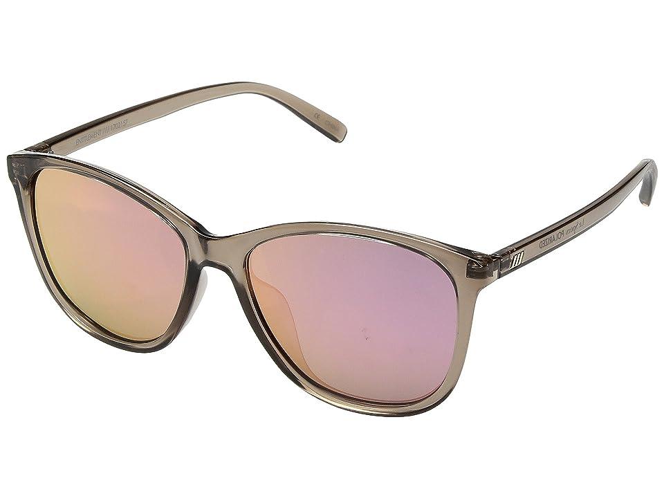 Le Specs Entitlement (Light Pebble/Coral Revo Mirror Polarized) Fashion Sunglasses