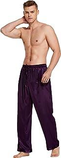 Tony & Candice Men's Satin Pyjama Bottoms Long PJ Pants