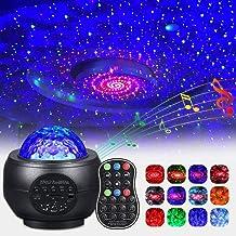 Sterrenprojector Nachtlampje LED Sterrenhemel Projectielamp Oceaangolfprojector met afstandsbediening 9 kleuren veranderen...
