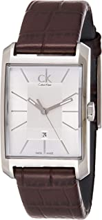 Calvin Klein Women's K2M23126 Window Stainless Steel Watch with Brown Leather Band