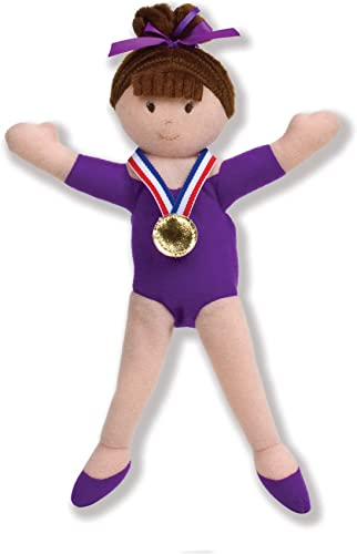 North American Bear Company Girls on The Move Gymnast Brunette Finger Puppet