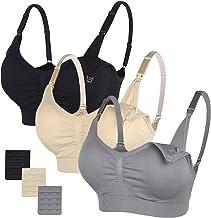 STELLE Body Silk Seamless Maternity Nursing Bra with Pads, Extenders & Clips