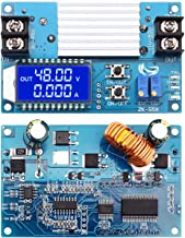 WHDTS 5A Boost Converter LCD Display, DC-DC 10V-50V Step Up Power Supply Module Adjustable Boost Adapter CVCC Constant Coltage Constant Current Converter with Shell