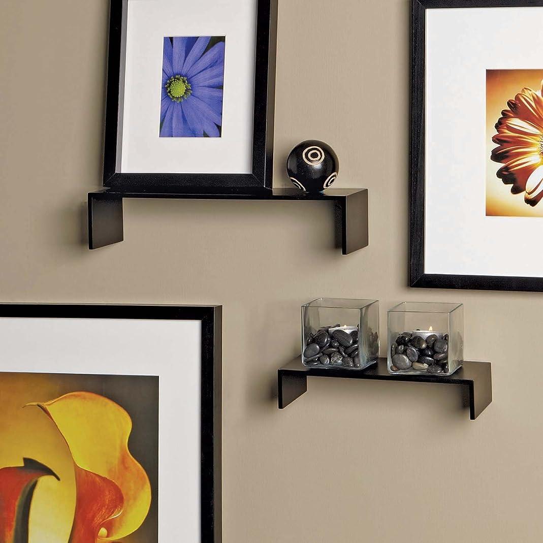 肩をすくめる公爵運賃nexxt Extense Series Espresso Accent Shelves with Distinctive Thin Profile, Set of 2 by nexxt [並行輸入品]