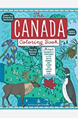 The Canada Coloring Book: Maps of Provinces and Territories with Symbols and National Parks Paperback