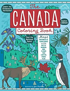 The Canada Coloring Book: Maps of Provinces and Territories with Symbols and National Parks