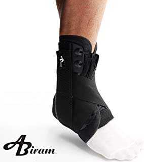 ABIRAM Ankle Brace, Lace Up Adjustable Support Stabilizer -Foot Pain Relief from Heel Spurs & Plantar,Fasciitis,Sprained Foot, Tendonitis, Injury Recovery-for Running, Volleyball Basketball
