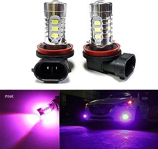 SOCAL-LED 2x H11 H8 LED Fog Light Bulb 15W SMD 5730 12V High Power Bright DRL Bulbs, Pink