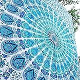 Aakriti Gallery Tapestry Sun Moon Starry Mandala Motif,