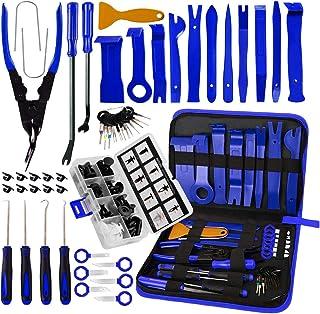 AUTOXEL BYNIIUR 88 Pcs Trim Removal Tool,Auto Push Pin Bumper Retainer Clip Set Fastener Terminal...