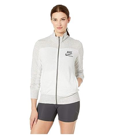 Nike Sportswear Gym Vintage Top Long Sleeve Full Zip Graphic (Grey Heather/Birch Heather/Dark Grey) Women