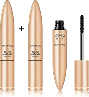 SIAMHOO 4d Silk Fiber Lash Mascara Black Mascara Volume and Length Buildable Waterproof Mascara for Makeup ...