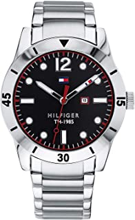 Tommy Hilfiger Men's Black Dial Stainless Steel Band Watch - 1791440