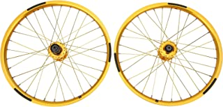 Bicycle Wheelset Rims, Practical BMX Wheel Bicycle Wheel Set, Stable Reliable Sturdy Durable for Mountain Bike Cycling Acc...