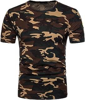 ZEFOTIM Men's Casual Camouflage Print O Neck Pullover T-Shirt Top Blouse