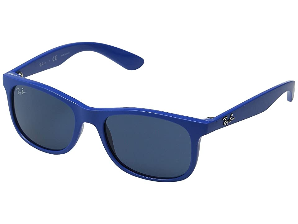 Ray-Ban Junior RJ9062S 48mm (Youth) (Matte Blue/Dark Blue) Fashion Sunglasses