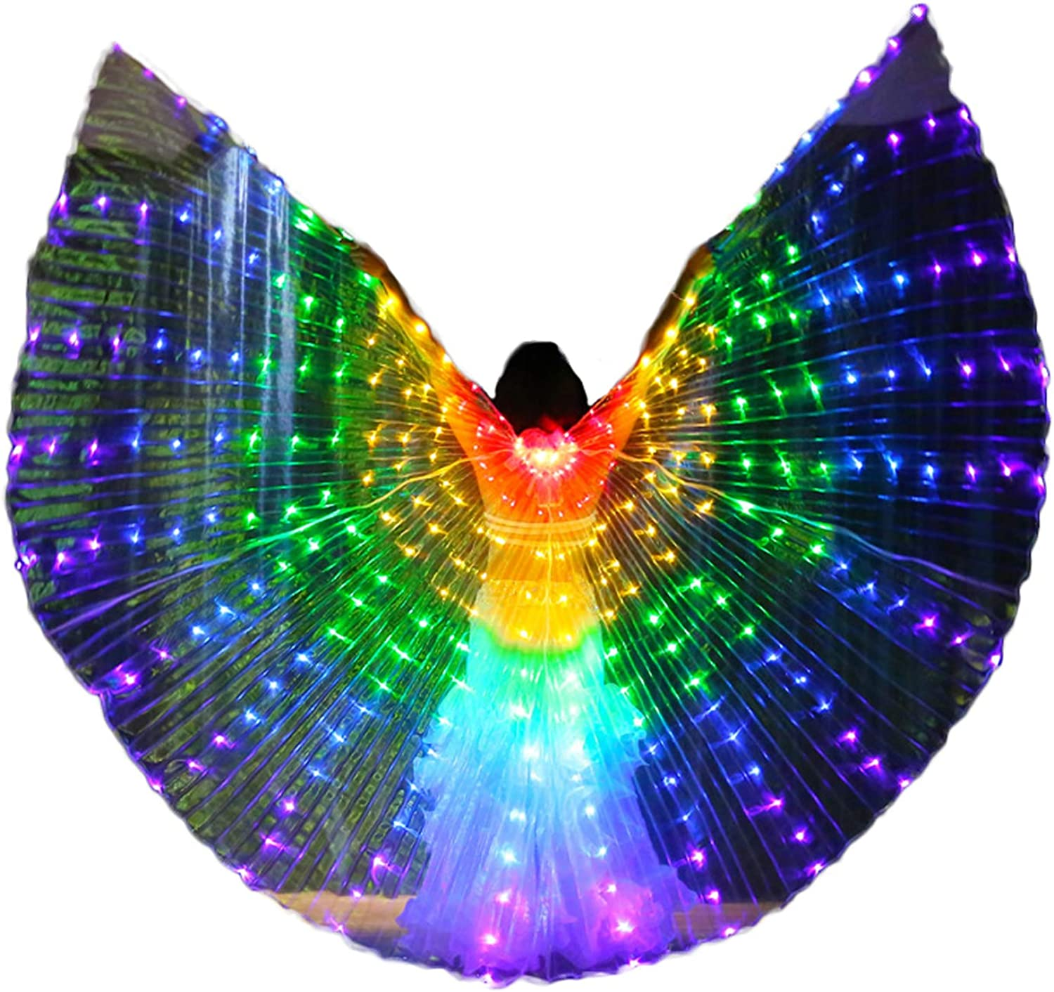 LED Lights Professional Belly Isis Wings with Telescopic Sticks