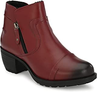 Delize Genuine Leather- Cherry Women Ankle Boots