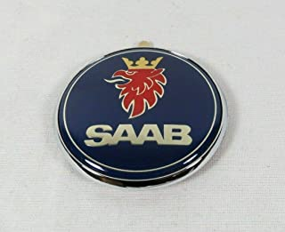 Saab 93 9-3 Hatchback Emblem 1999-2002 Rear Trunk Blue Chrome Badge Back Sign Symbol Logo