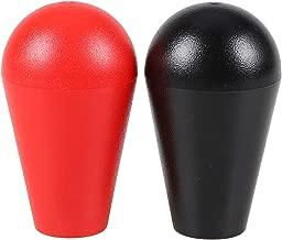 Avisiri 2X Arcade Joystick's Oval Balltop, Arcade Ellipse Topball Handle use for 2 Player Arcade Joystick DIY Kit Sanwa Joystick MAME Jamma Part (Red & Black)
