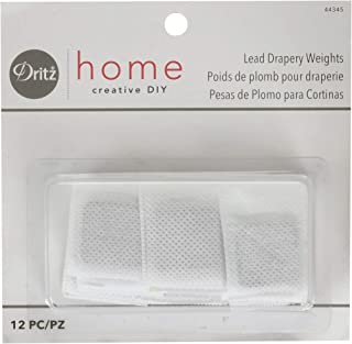 Dritz Home 44345 Covered Lead Drapery Weights (12-Piece)
