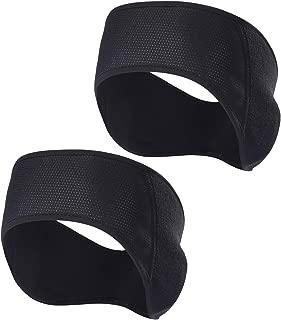 Fleece Ear Warmers Headband - 2 Pack Winter Black Band Earmuffs Ski Mask for Men Women