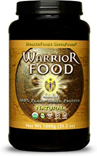 HealthForce SuperFoods Warrior Food, Natural Flavor - 1000 Grams - All-Natural, Plant-Based Protein Powder - Easy to Diges...