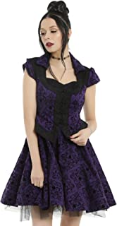 Once Upon a Time Regina Purple Formal Party Dress Damask Flocking & Tulle