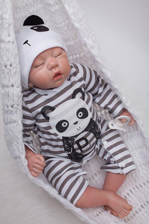 OUBL 20Zoll 50 cm Reborn Babys Puppen Junge Silikon Vinyl lebensecht Doll Wie Echt mit Augen zu Billig Magnetismus Spielzeug B07C39WVY7 Ästhetisches Aussehen  | Elegante Und Stabile Verpackung