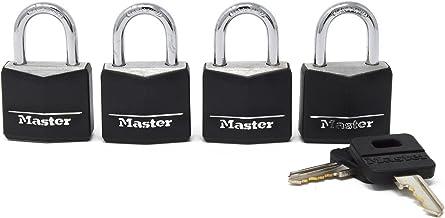 Master Lock Candado recubierto de aluminio, 3 cm de ancho,
