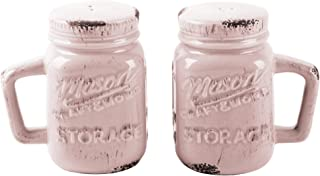 Novelty Ceramic Salt & Pepper Shaker Set (Mason Jars)