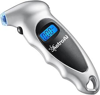 AstroAI Medidor de Presión Neumáticos Moto Bicicleta Coche, Manómetro Digital de Presión Aire Pantalla con Luz 0-10 Bares 1 Año de Garantía